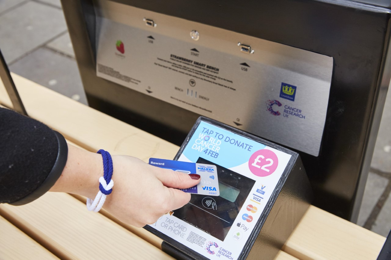 Cancer Research smart bench contactless