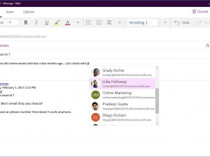 Microsoft Mail and Calendar