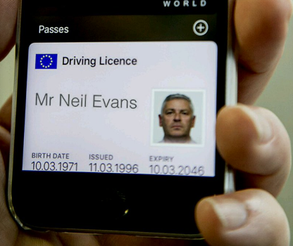 Digital drivers licence