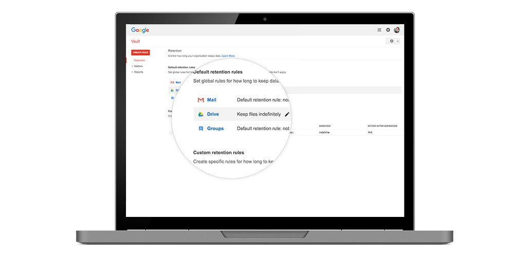 Google Vault for Drive