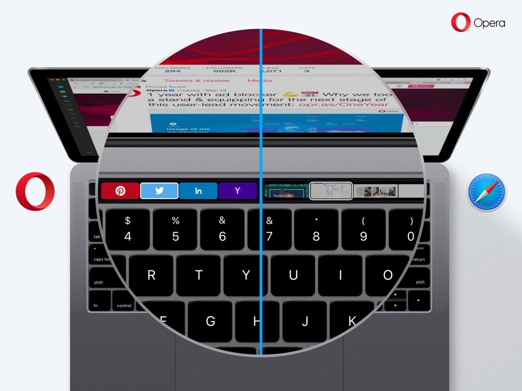 Opera touchbar