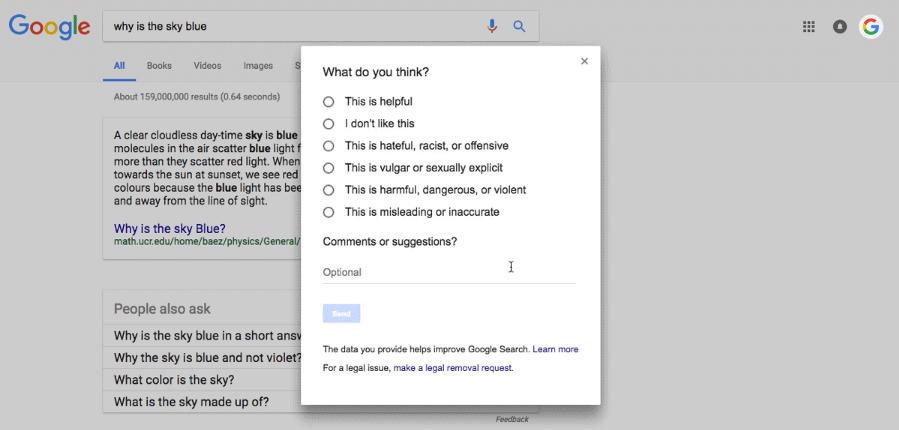 Google fake news