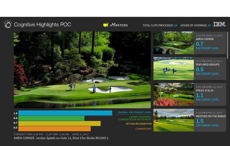 IBM US Masters golf 1
