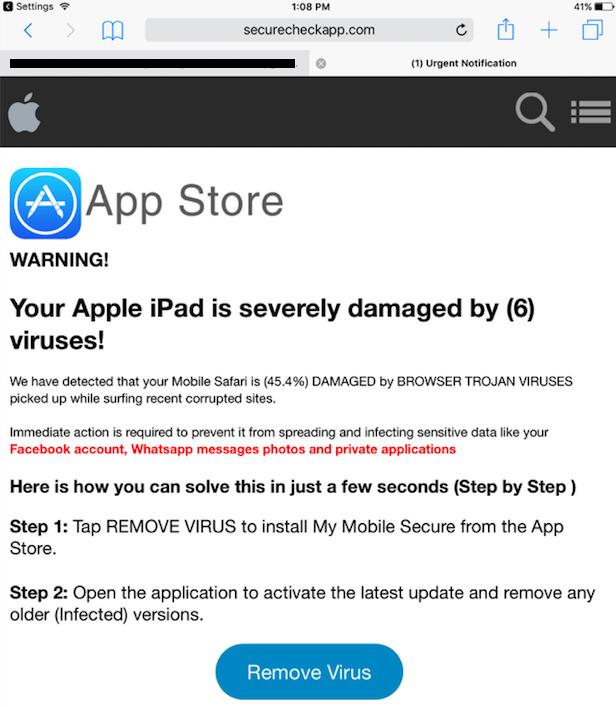 iOS scareware