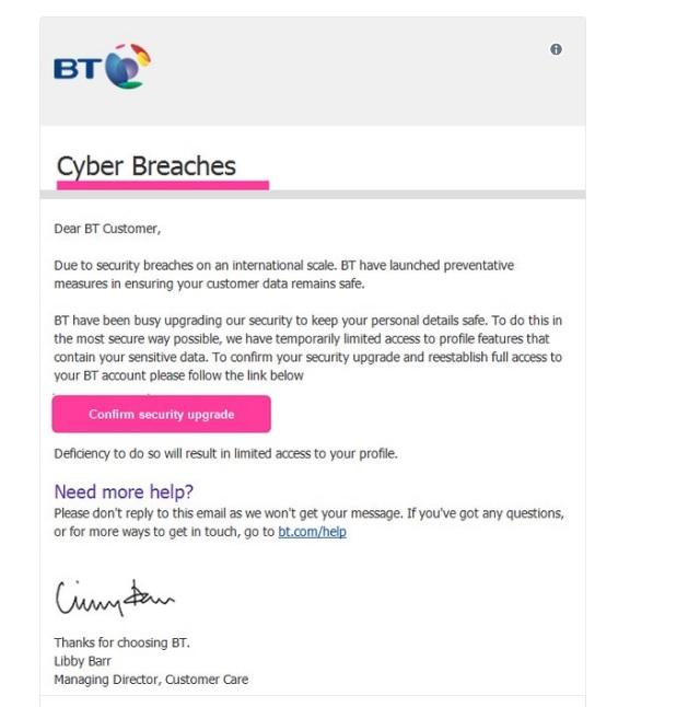 BT scam