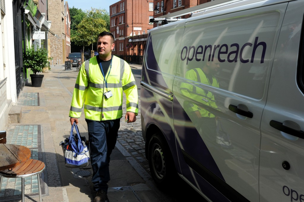 BT Open Reach Rebrand. London. Picture Steve O'Connell 21-06-17