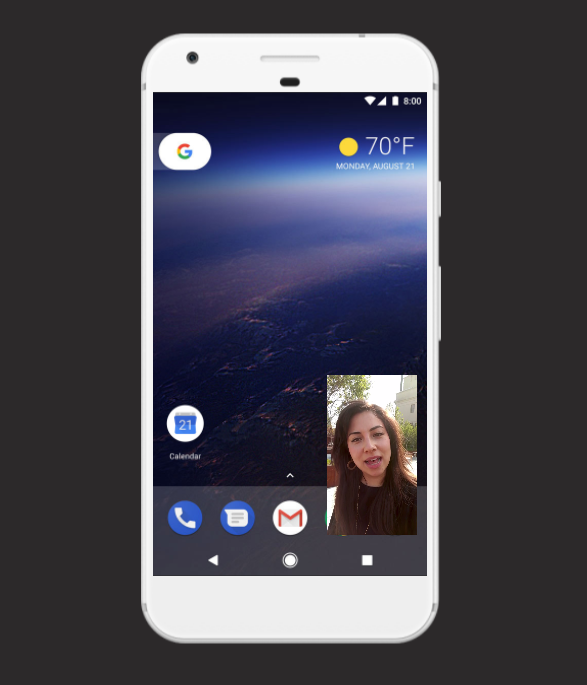 Android Oreo Picture in Picture