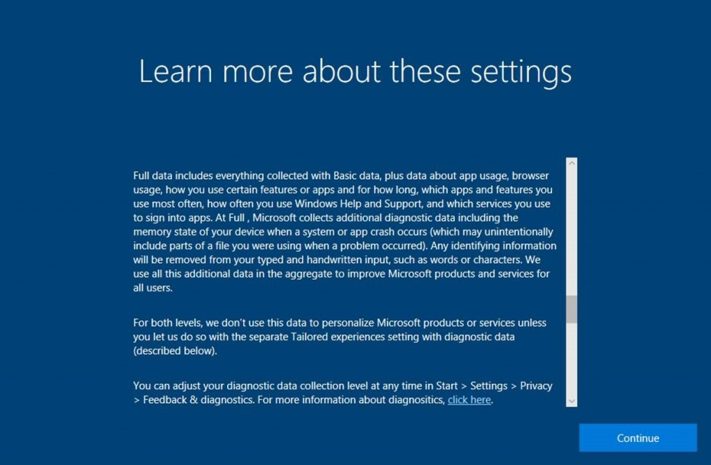 Windows 10 Fall Creators Update Privacy 2