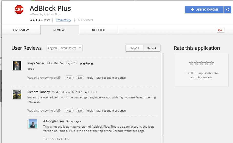 The fraudulent extension included negative reviews. credit: SwiftOnSecurity