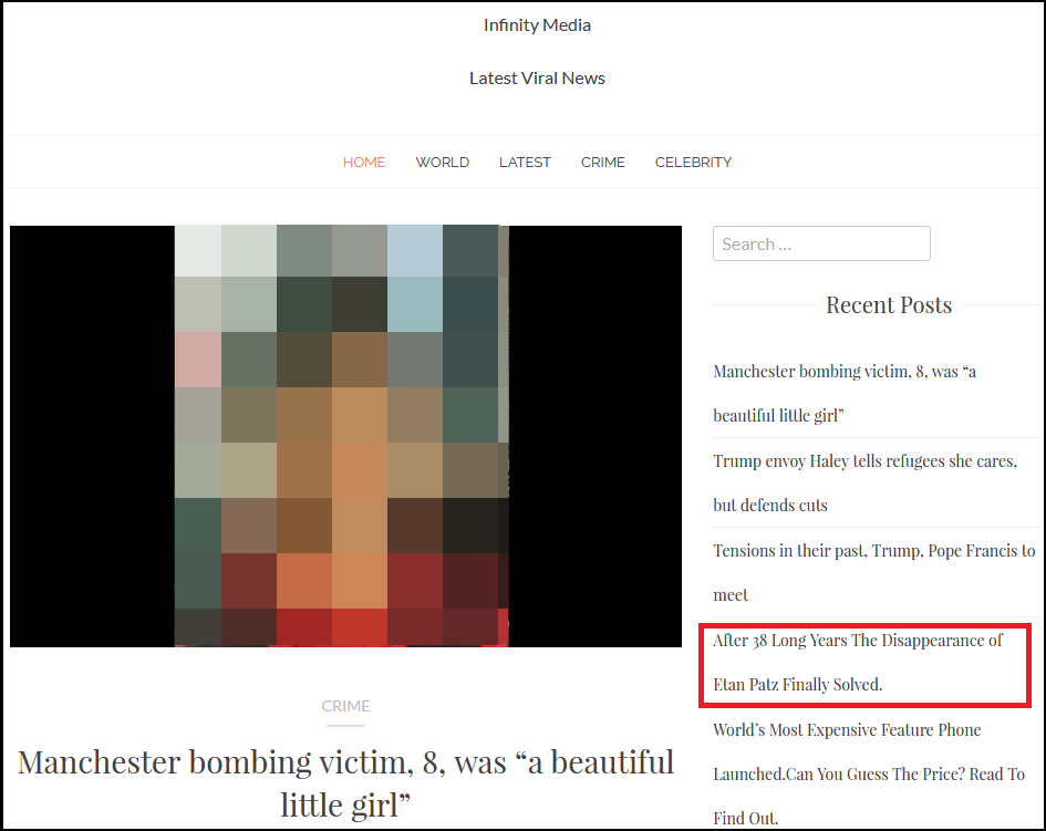 Attackers created a genuine-looking content website