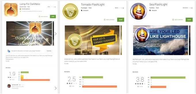 BankBot appeared in flashlight and solitaire apps on Google Play. Credit: Avast