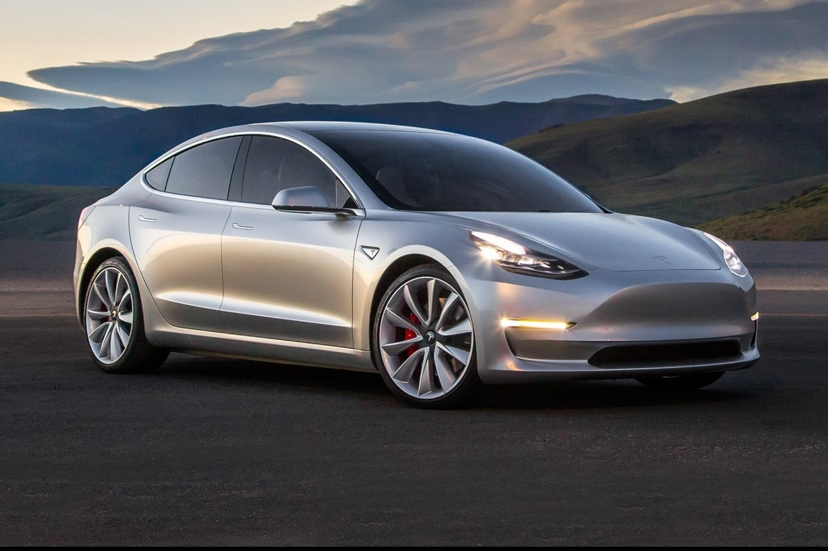 Tesla's Model 3 sedan. Image credit: Tesla