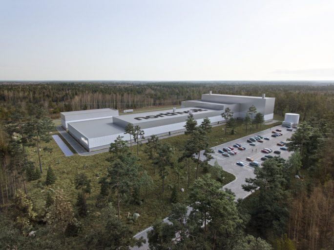 Northvolt Labs' planned battery factory in Sweden. Northvolt