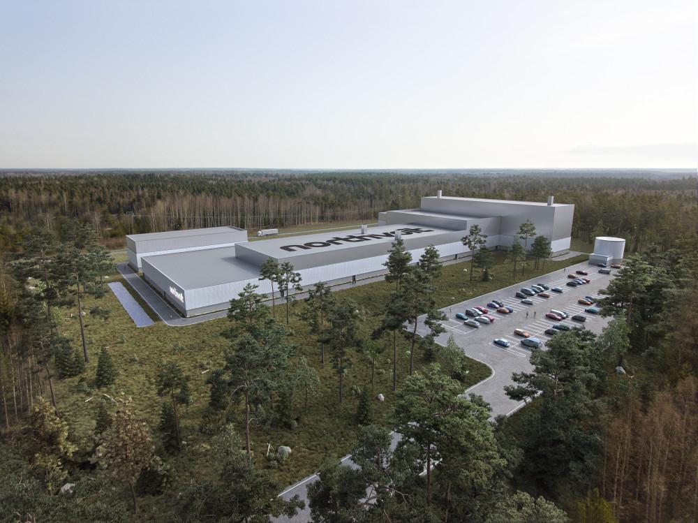 Northvolt's planned battery factory in Sweden. Northvolt
