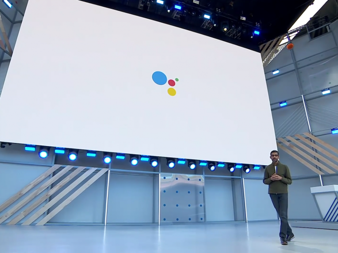 Google chief executive Sundar Pichai at Google's I/O developer conference, 2018. Credit: Google