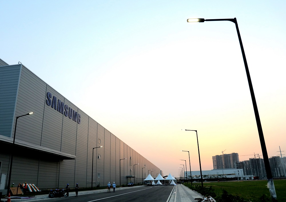 Samsung's newly expanded smartphone manufacturing plant in Noida, India. Credit: Samsung