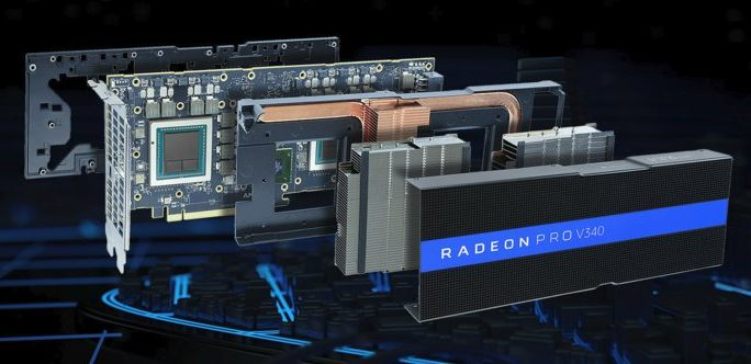 The Radeon Pro V340. Credit: AMD