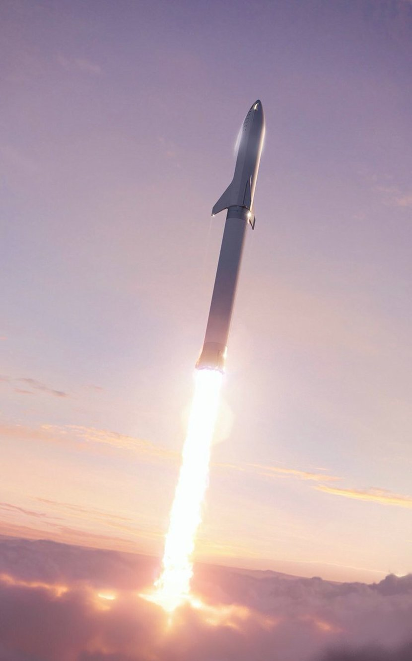 An illustration of a Big Falcon Rocket launch. Image credit: SpaceX