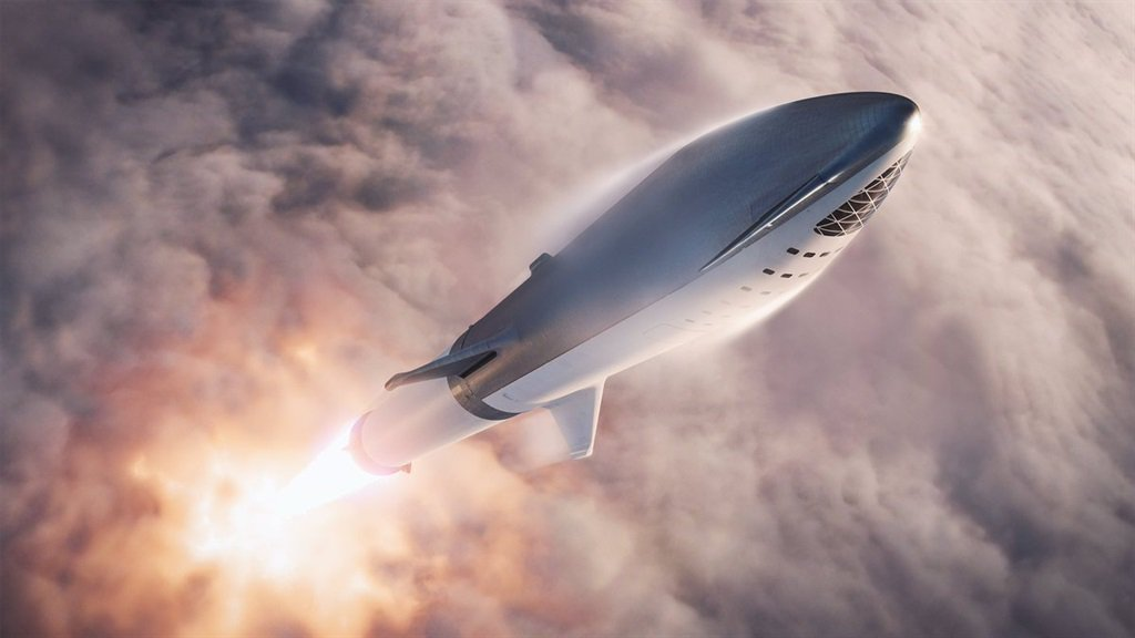 Presentation of Big Falcon Rocket. Image credit: SpaceX