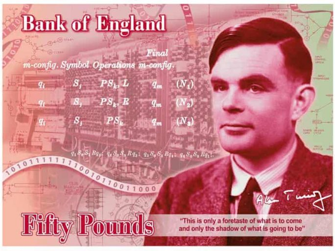 Alan Turing, Bank of England