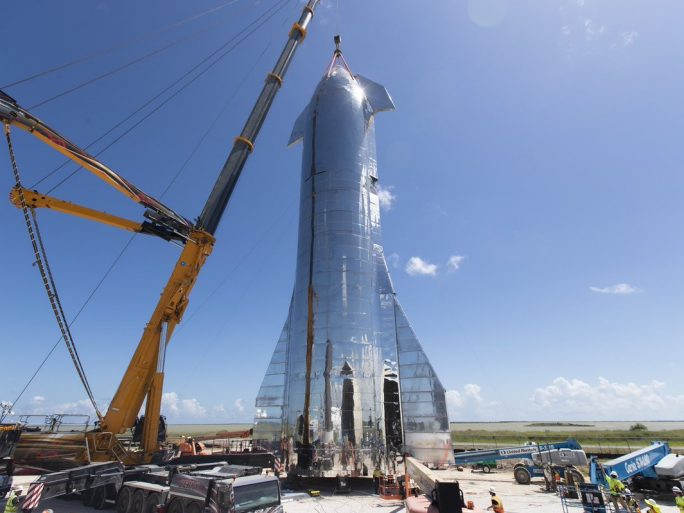SpaceX's Starship prototype. Image credit: SpaceX