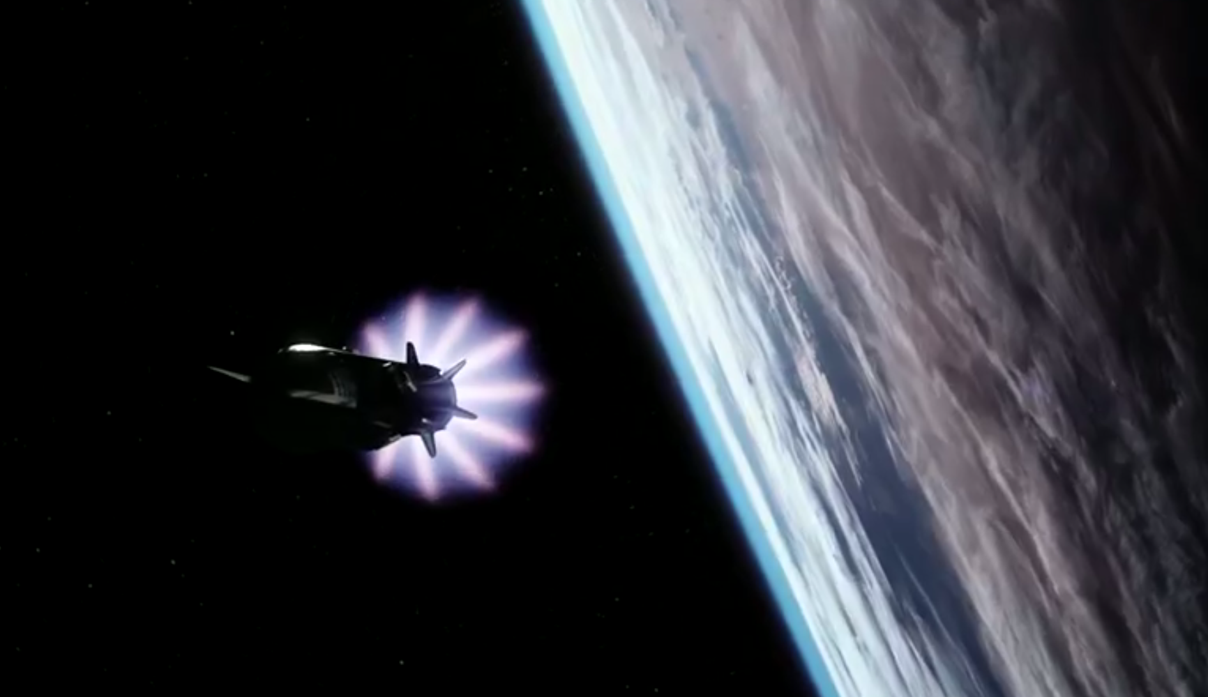 An animation of the Starship rocket in orbit. Image credit: SpaceX