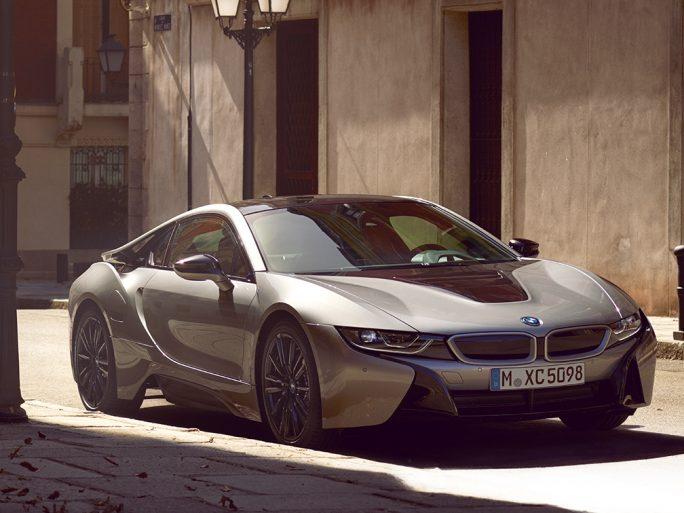 BMW's i8 plug-in hybrid vehicle. BMW