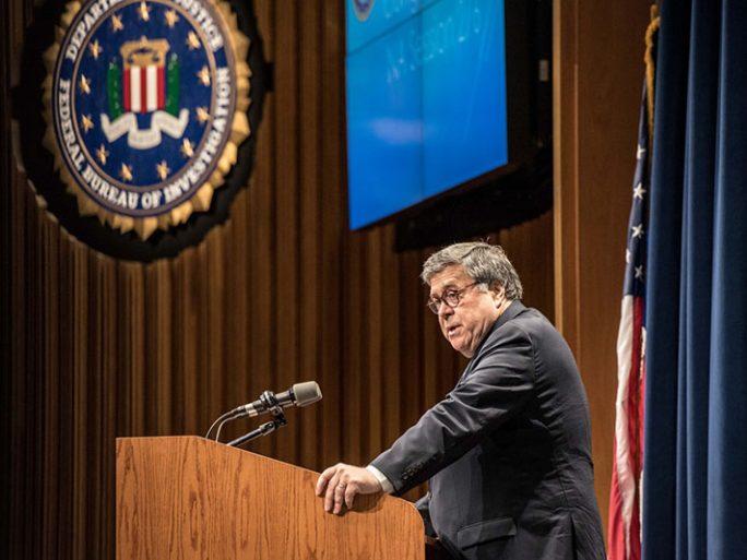 Attorney General William P. Barr. Image credit: FBI