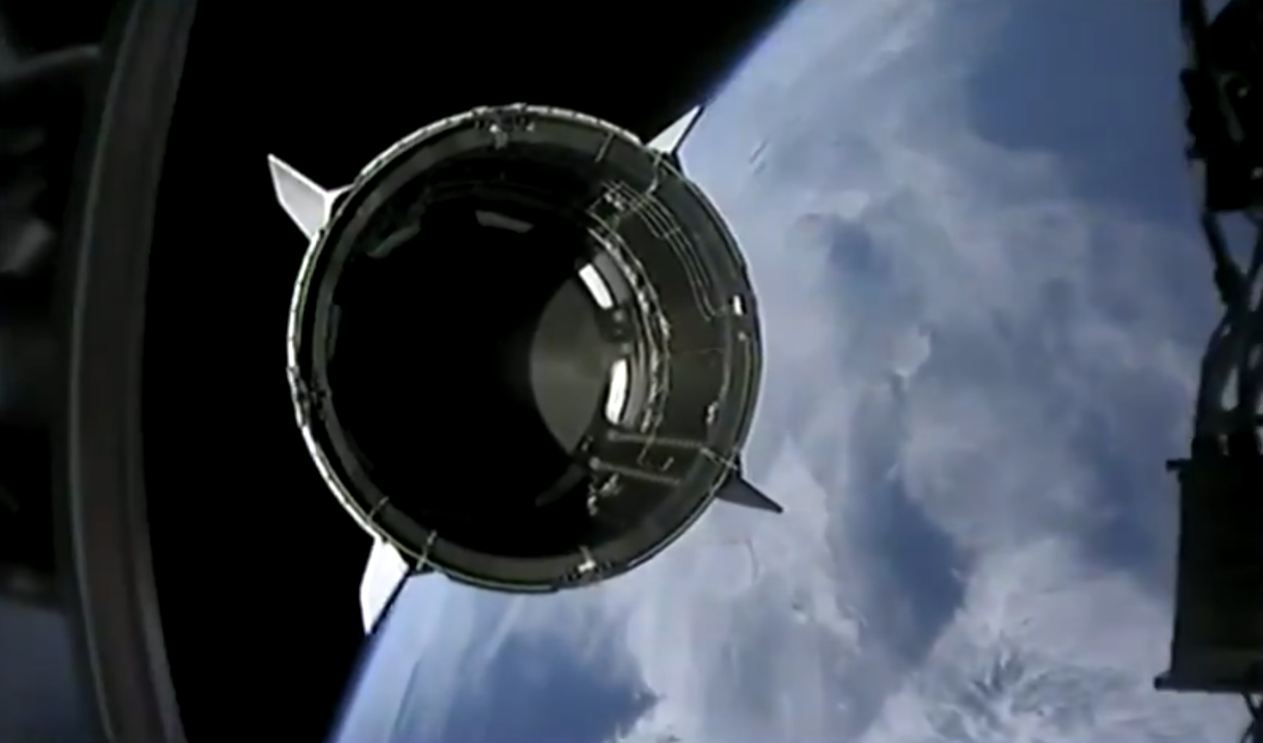 Crew Dragon separates from Falcon 9's second stage. Image credit: SpaceX
