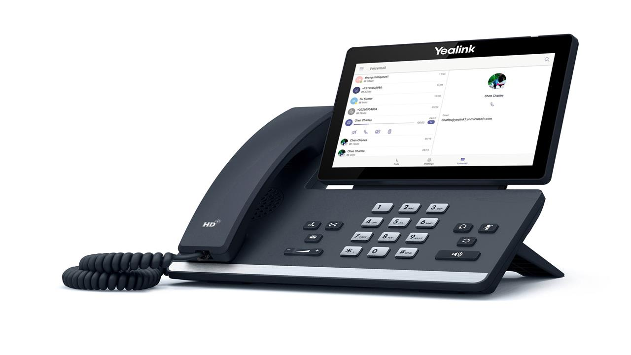 The Yealink T56A Teams-enabled phone.  Image credit: Microsoft