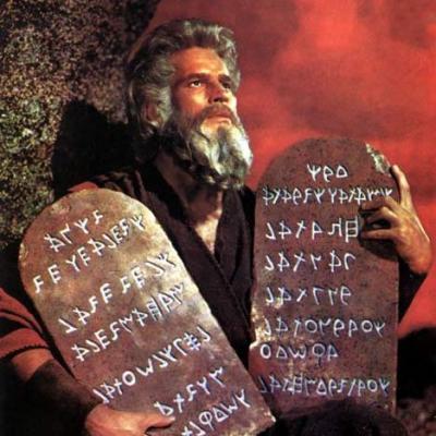 tablet charlton heston commandments