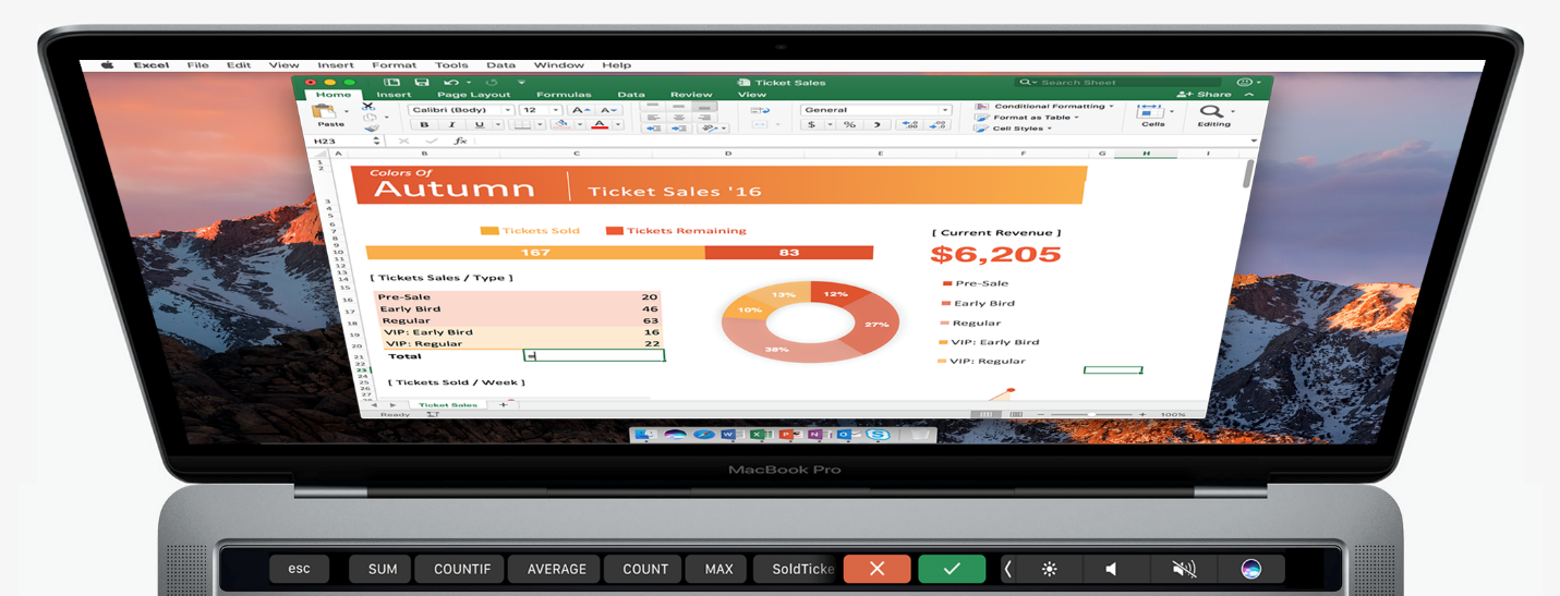 Microsoft Office For Mac Touch Bar 3