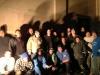 Peer 1 New York data centre bucket brigade team photo